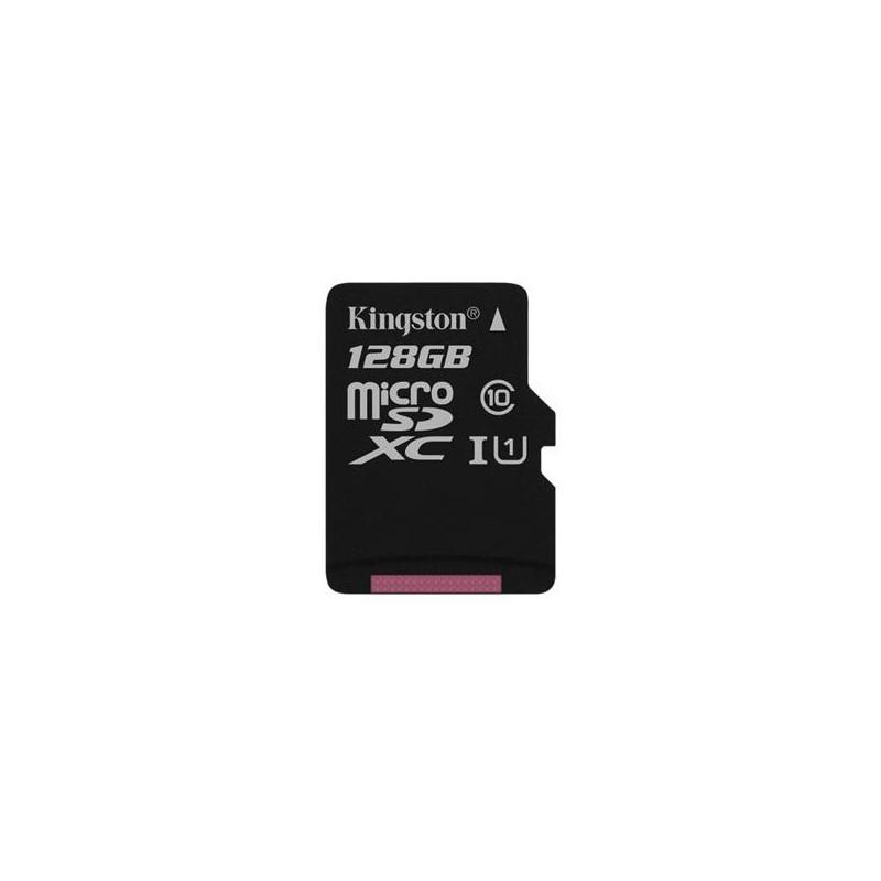 128 GB microSDHC/SDXC karta Kingston Class 10 UHS-I bez adaptéra (r80MB/s, w10MB/s) SDCS/128GBSP