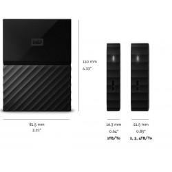 "WD MY Passport 2,5"" Externý HDD 1 TB USB 3.0, cierna WDBYNN0010BBK-WESN"