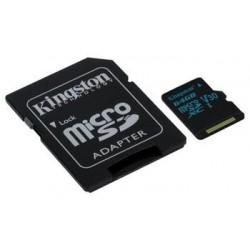 KINGSTON 64GB microSDHC Canvas Go 90R/45W U3 UHS-I V30 Card + SD Adapter SDCG2/64GB