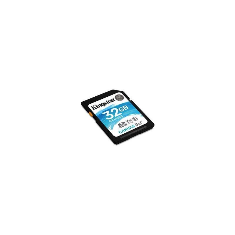 KINGSTON 32GB SDXC Canvas Go 90R/45W CL10 U3 V30 SDG/32GB