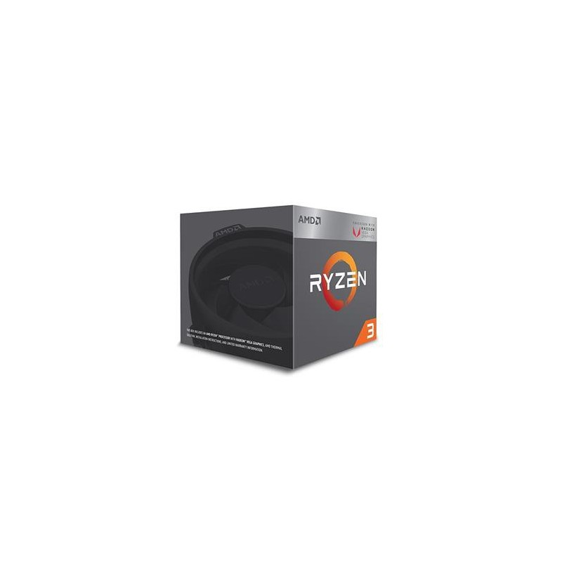 AMD CPU Ryzen 3 2200G Box AM4 (4core, 4x vlákno, 3.5GHz / 3.7GHz, 4MB cache, 65W) chladič Wraith Stealth YD2200C5FBBOX