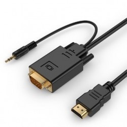 GEMBIRD Kábel HDMI Samec/VGA Samec +3,5mm Jack 10 A-HDMI-VGA-03-10M
