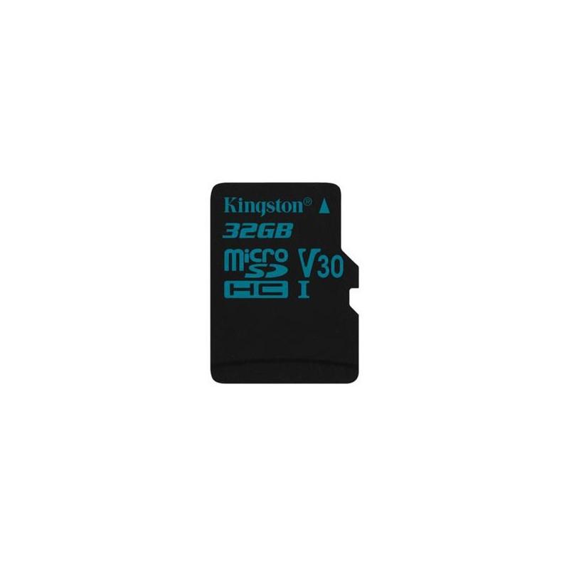 32 GB microSDXC karta Kingston Class U3 UHS-I (r90MB/s, w45MB/s) bez adaptéra SDCG2/32GBSP