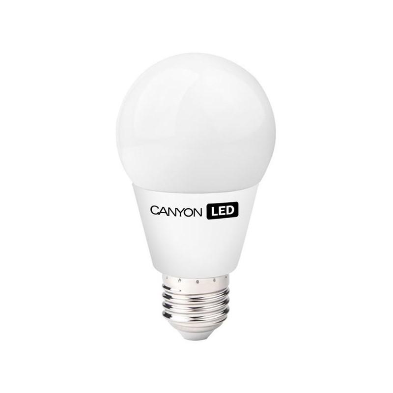 Canyon LED COB žiarovka, E27, guľatá, mliečna, 8W, 600 lm, teplá biela 2700K, 220-240V AE27FR8W230VW