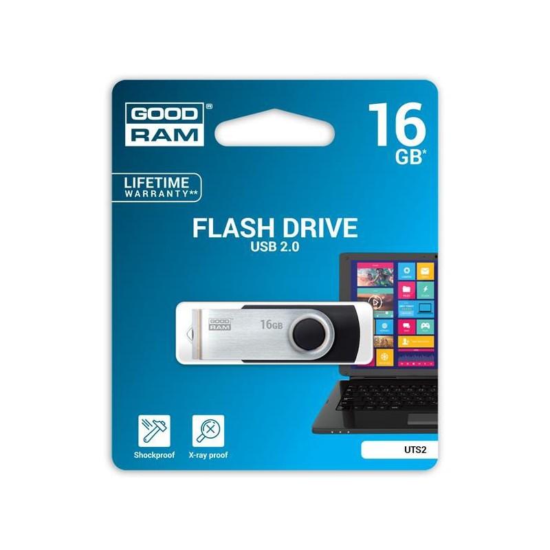16 GB USB kľúč GOODRAM Twister Čierna UTS2-0160K0R11