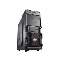 CoolerMaster case miditower K380, ATX, čierna, USB3.0, priehľ. bok, bez zdroja, príprava pre vodné chladenie RC-K380-KWN1