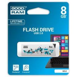8 GB USB kľúč GOODDRIVE CL!CK, biely UCL2-0080W0R11