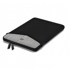 DICOTA_Code , Stylish neoprene sleeve with pocket for accessories 13 grey D30571