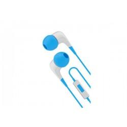 Cygnett 2xS slúchadlá do uší s mikrofónom, pre smartfóny, bielo /modré CY1720HEWIR
