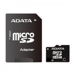 4 GB microSDHC karta A-DATA class 4 + adaptér AUSDH4GCL4-RA1