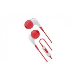 Cygnett 2xS slúchadlá do uší s mikrofónom, pre smartfóny, bielo / červené CY1721HEWIR