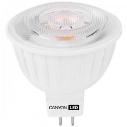 Canyon LED COB žiarovka, GU5.3, bodová MR16, 4.8W, 300 lm, teplá biela 2700K, 12V MRGU5.3/5W12VW60