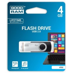 4 GB USB kľúč GOODRAM Twister Čierna UTS2-0040K0R11