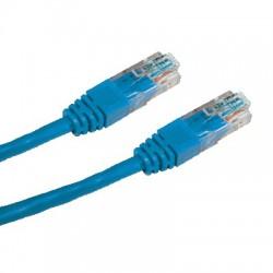 CNS patch kábel Cat5E, UTP - 3m , modrý PK-UTP5E-030-BL