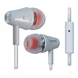 Cygnett Fusion II, slúchadlá do uší s mikrofónom, pre smartfóny, biele CY0566HEFUS