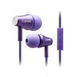 Cygnett Fusion II, slúchadlá do uší s mikrofónom, pre smartfóny, fialové CY0568HEFUS