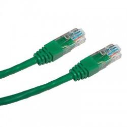 CNS patch kábel Cat5E, UTP - 3m , zelený PK-UTP5E-030-GN