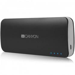 Canyon CNE-CPB100DG externá batéria s nabíjačkou 10.000 mAh, dual USB 5V/1A/2A, pre smartfóny a tablety, tmavo-šedá