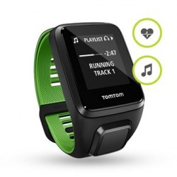 TomTom Runner 3 Cardio+Music - black/green (L) 1RKM.001.00