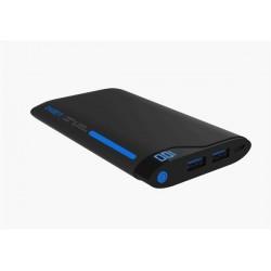 Cygnett ChargeUp Polymer Digital Powerbank 6.000mAh, dual USB/2.1A, pre smartfóny a tablety, čierno-modrá CY1768PBCHE