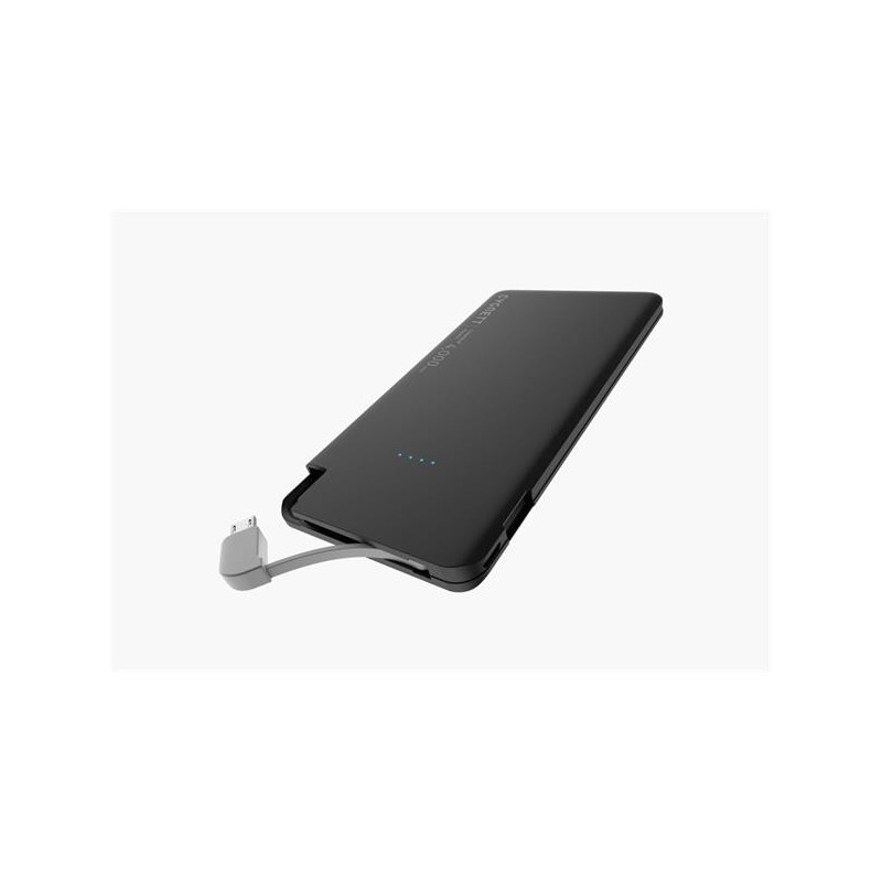 Cygnett ChargeUp Polymer Digital Powerbank 4.000mAh, s integr. Lightnining, 1 USB/2.1A čierna CY1996PBCHE