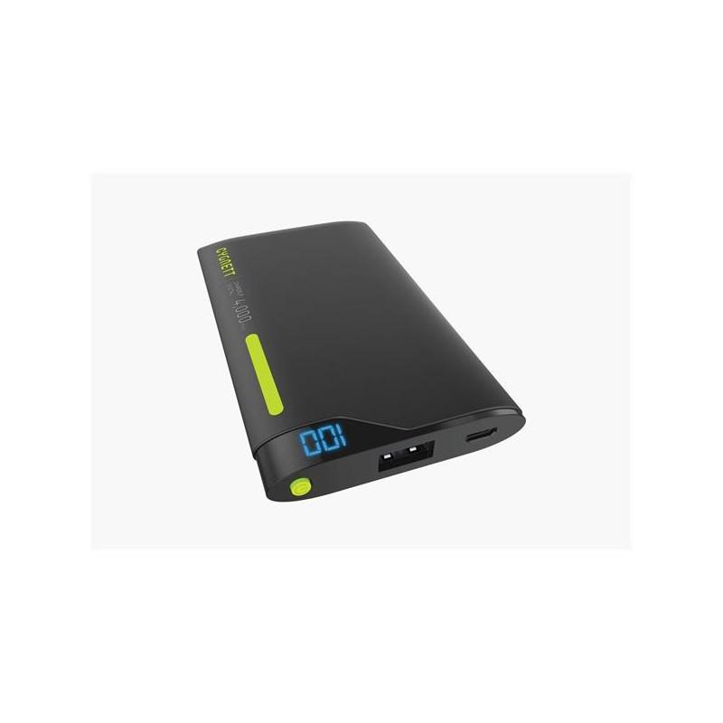 Cygnett ChargeUp Polymer Digital Powerbank 4.000mAh, 1 USB/2.1A, pre smartfóny a tablety, čierno-zelená CY2000PBCHE