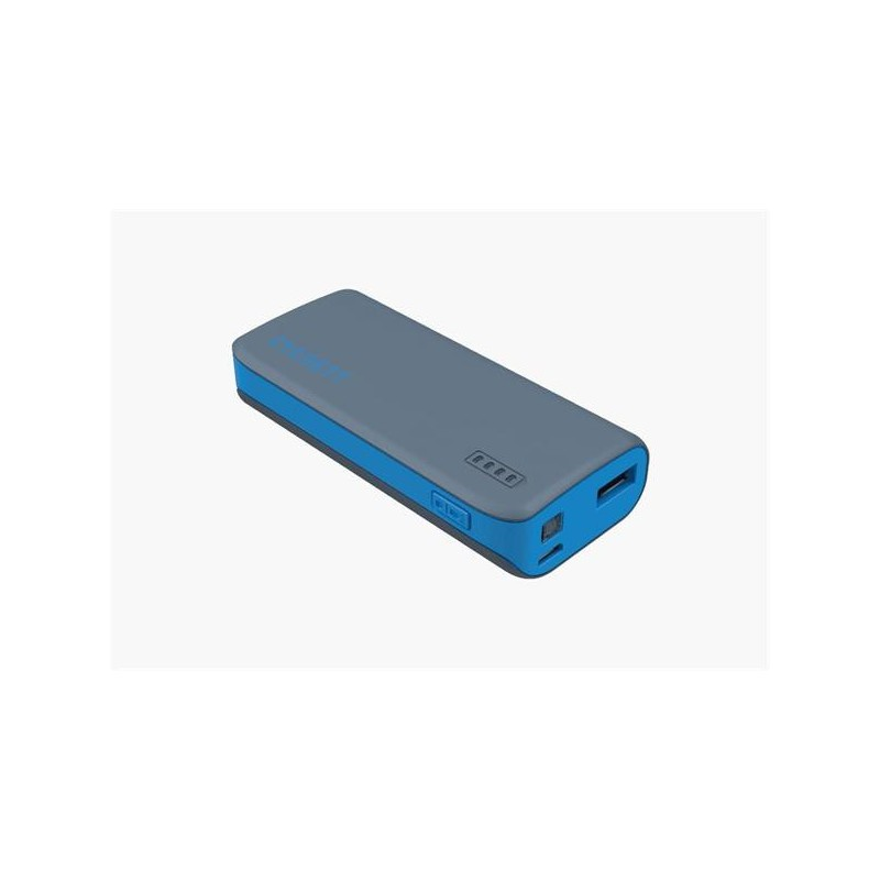 Cygnett Charge Up Sport 4.400mAh Powerbank 1 USB Port/1.0A, šedo-modrá CY1420PBCUS