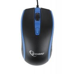 Gembird optická myš 1600 DPI, USB, čierna-modrá MUS-104-B