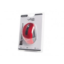 UGO wireless Optic mouse MY-02 1800 DPI, Red UMY-1075