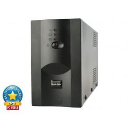 Promo Pack: Energenie UPS 650VA + Energenie prepäťová ochrana pre UPS, 3 zásuvky UPS-PC-652A + EG-PSU3F-01