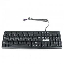 4World Počítačová klávesnica na PS/2, farba čierna, US 07319