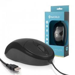 4World Myš optická BASIC2, USB, 1200dpi, čierna 06709