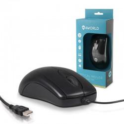 4World Myš optická BASIC3, USB, 1200dpi, čierna 06710