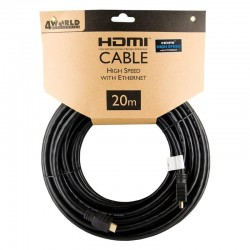 4World Kabel HDMI - HDMI High Speed s Ethernet (v1.4), 3D, HQ, BLK,...