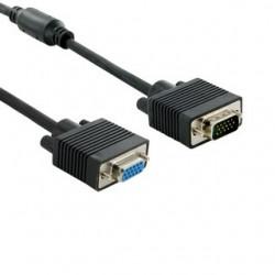 4World Prodlužovací kabel pro VGA/SVGA D-Sub15 M/F 1.8m ferritový filter 04689