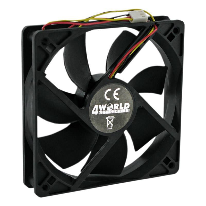 4World Ventilátor pre VGA/GPU 50x50x10mm, 3-pin, klzné ložisko 07279
