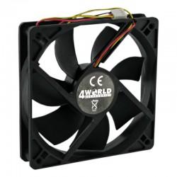 4World Ventilátor pre CPU/GPU/PC skrine 60x60x15mm, 3-pin, klzné ložisko 07280