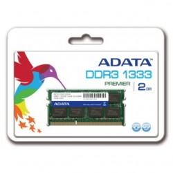 ADATA 2GB 1333MHz DDR3 CL9 SODIMM 1.5 V - Retail AD3S1333C2G9-R