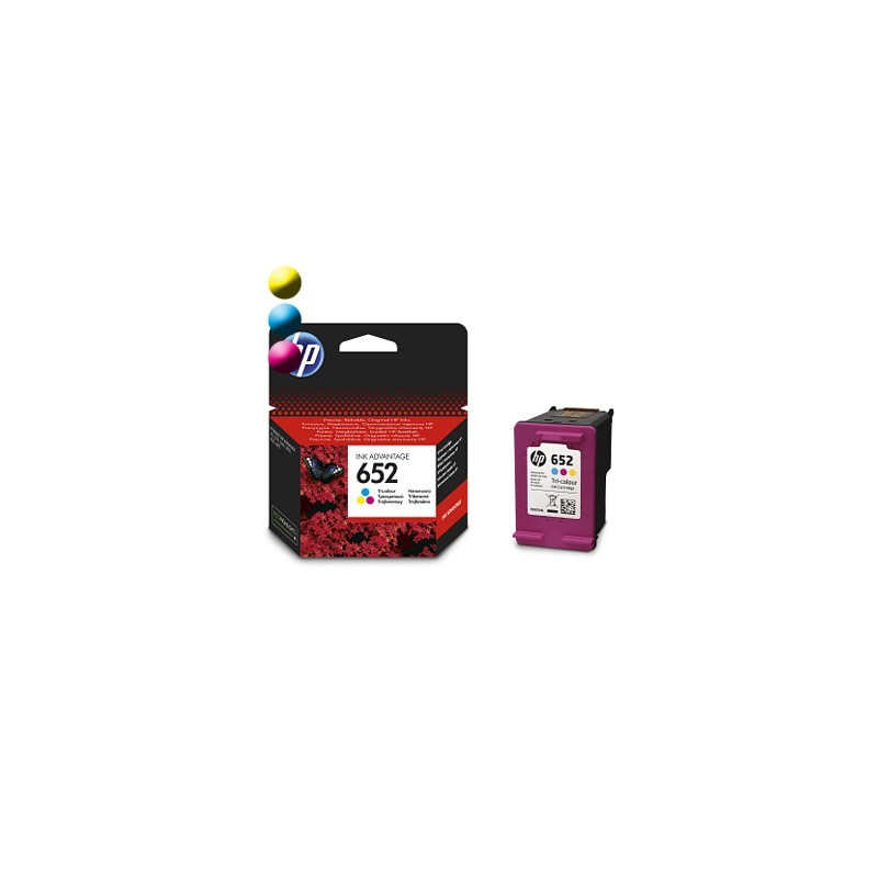 HP Cartridge HP 652 Cyan/Magenta/Yellow 5ml F6V24AE#BHK