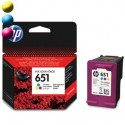HP Cartridge HP 651 Cyan/Magenta/Yellow C2P11AE#BHK