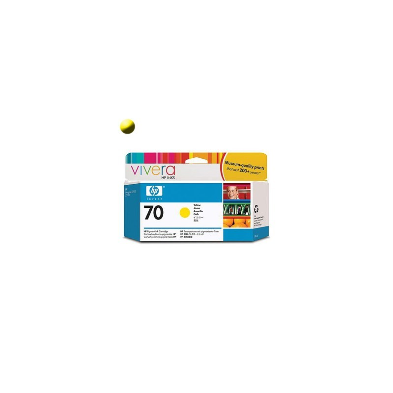 HP Cartridge C9454A Yellow HP70