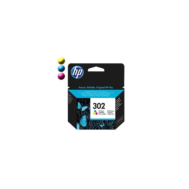 HP Cartridge HP 302 Tri-co Cyan/Magenta/Yellow F6U65AE