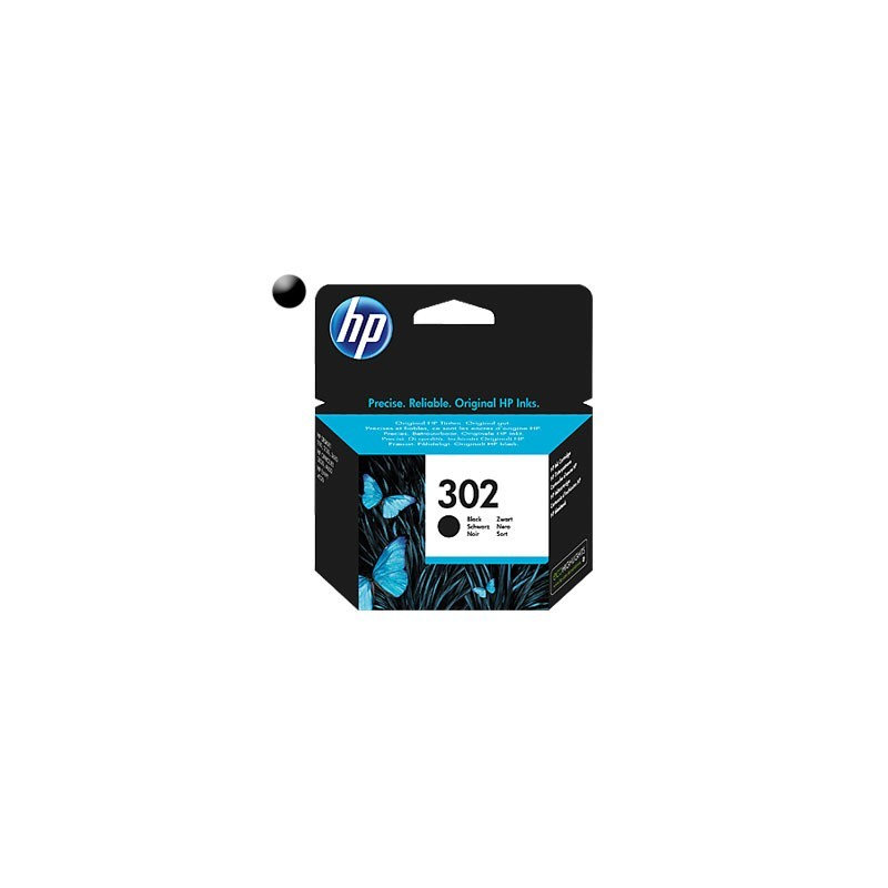 HP Cartridge HP 302 Black 3,5ml F6U66AE