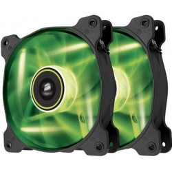 Corsair Air Series SP120 120mm ventilátor, 3pin, zelený LED, Twin pack CO-9050032-WW