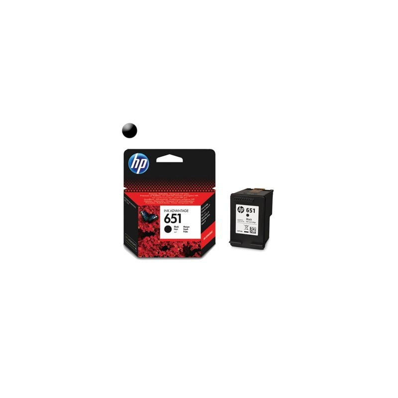 HP Cartridge HP 651 Black C2P10AE#BHK