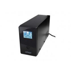 UPS Energenie-Gembird Line-Interactive,850VA,2xIEC,1xSchuko 230V OUT,USB,LCD EG-UPS-032