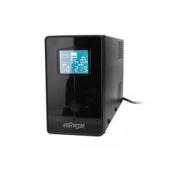UPS Energenie-Gembird Line-Interactive,650VA,2xIEC,1xSchuko 230V OUT,LCD EG-UPS-031