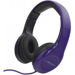Esperanza EH138V SOUL Stereo slúchadlá, skladacie, ovl. hlasitosti, 3m, modré EH138V - 5901299903728