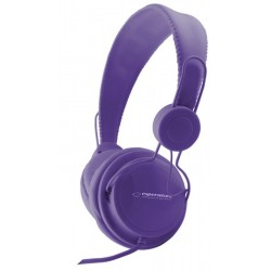 Esperanza EH148V SENSATION Stereo slúchadlá, ovl. hlasitosti, 3m, fialové EH148V - 5901299908389