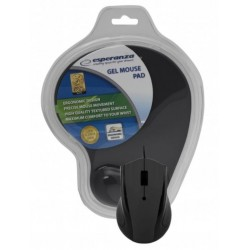 Esperanza EM125K Optická myš, 1200 DPI, USB + Gélová podložka, čierna, Blister EM125K - 5901299909133